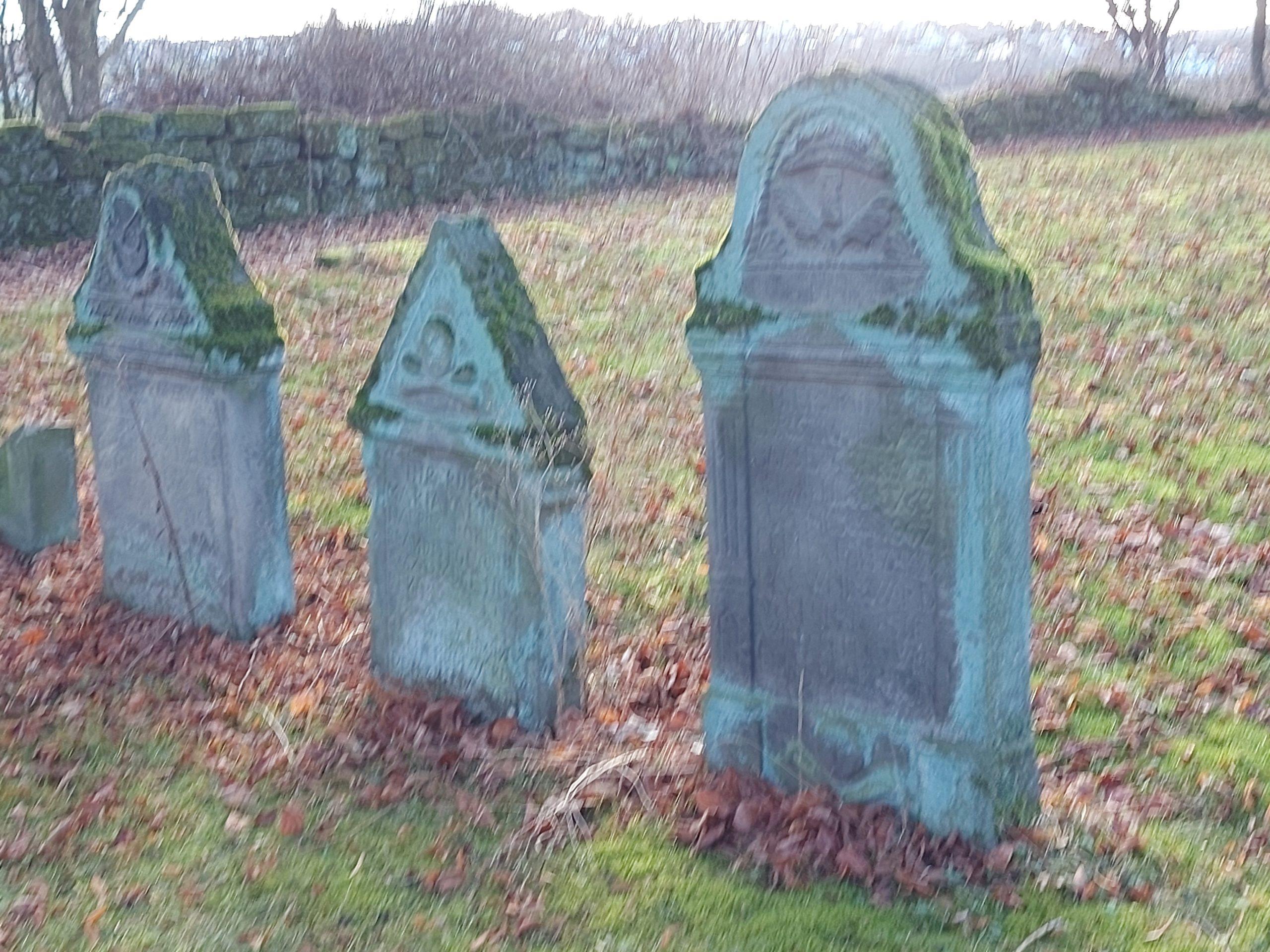 Grabsteine auf dem Friedhof von Alt-Rhoden